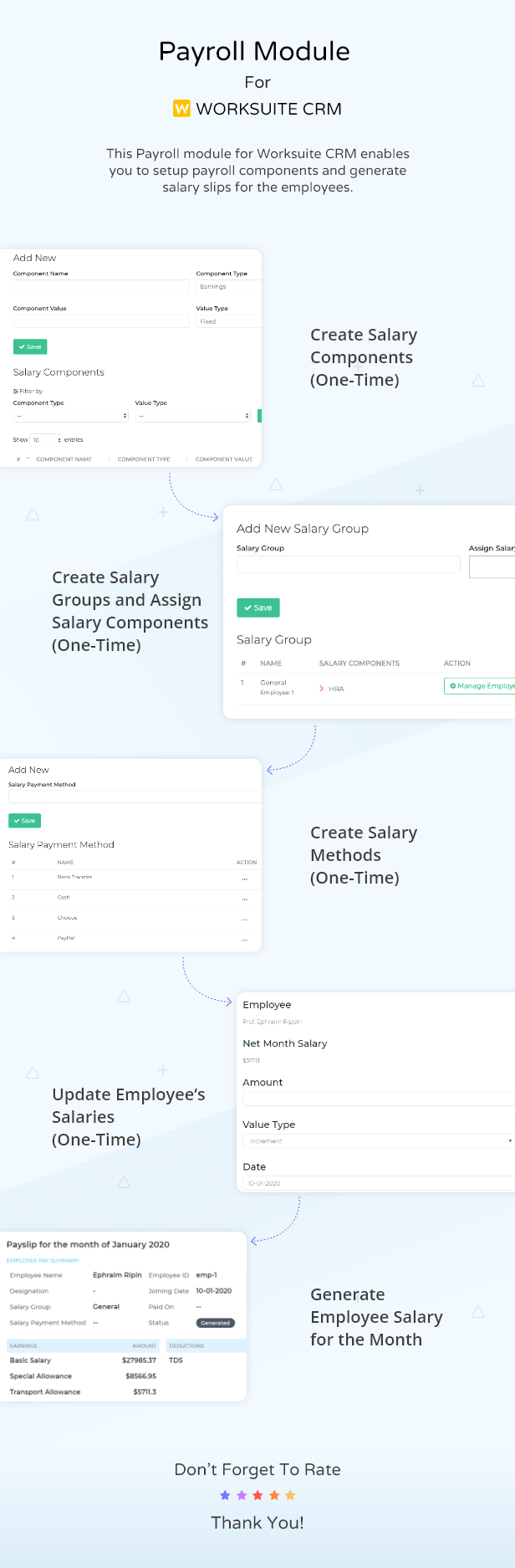 Payroll Module For Worksuite CRM - 1 Payroll Module For Worksuite CRM Nulled Free Download preview payroll